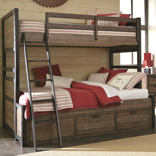 Fulton County Twin Over Full Bunk Bed With 3 Storage Drawers
